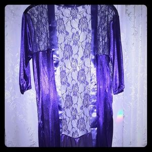 Other - Lovely Royal Purple Soft Flower Design Lace Robe